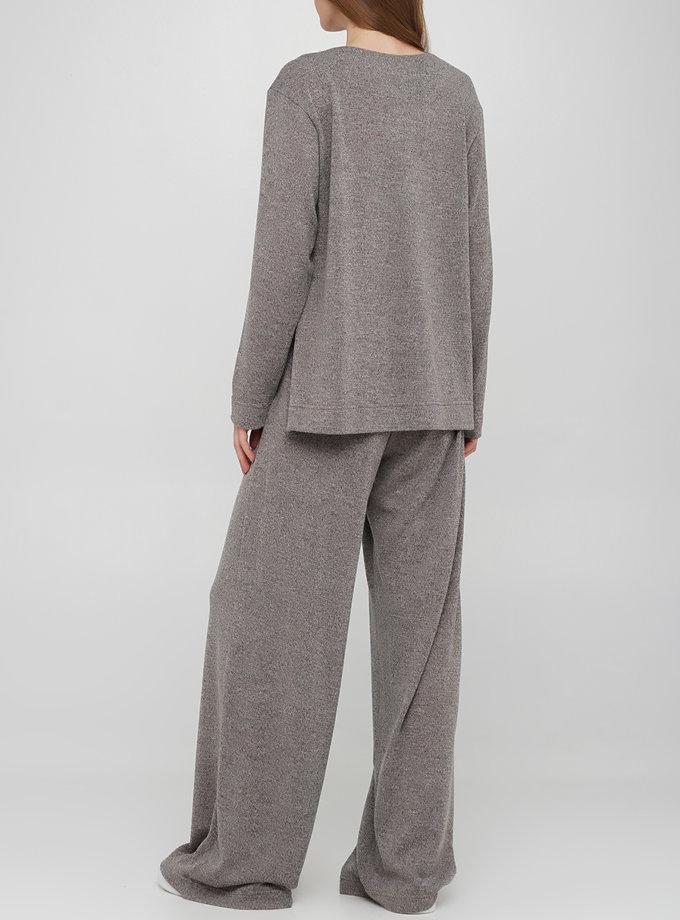 Широкие брюки на резинке AY_3249, фото 1 - в интернет магазине KAPSULA
