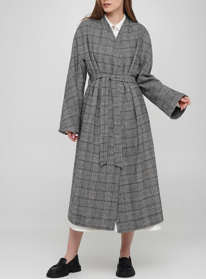 Шерстяное пальто в клетку AY_3258, фото 1 - в интернет магазине KAPSULA