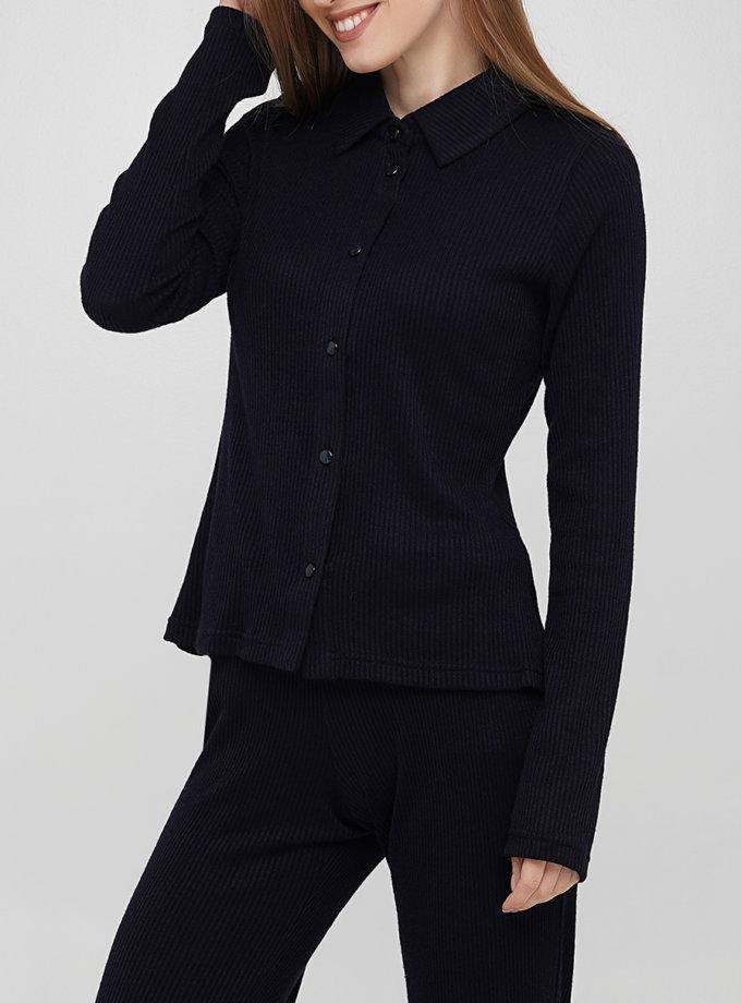 Трикотажная  рубашка AY_3266, фото 1 - в интернет магазине KAPSULA