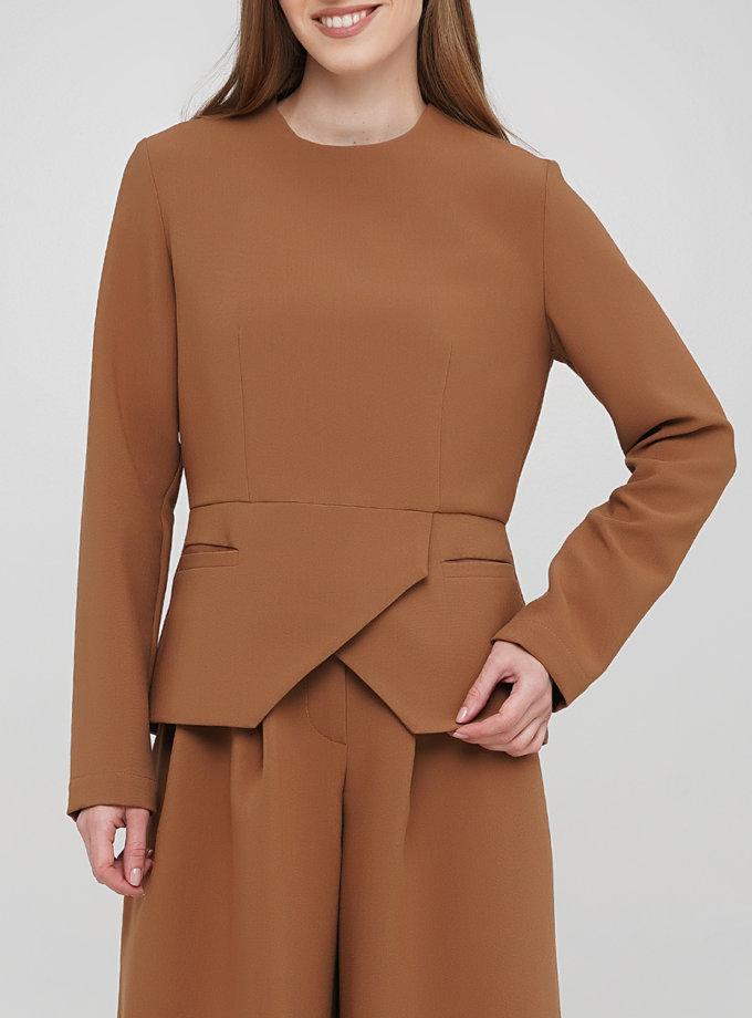 Блуза с баской AY_3278, фото 1 - в интернет магазине KAPSULA