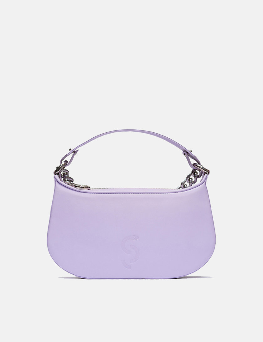 Кожаная сумка Saddle Bag in Purple SNKD_P0056S, фото 1 - в интернет магазине KAPSULA