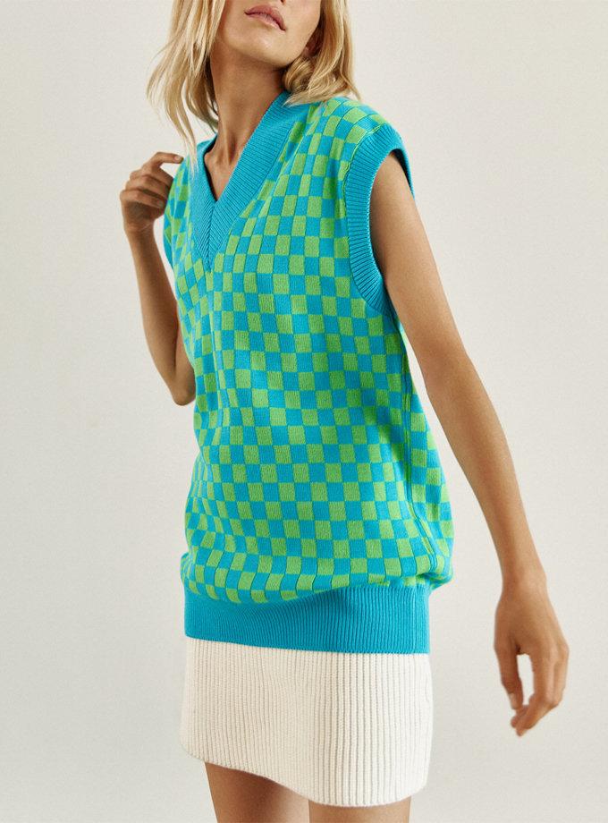 Жилет Eva з бавовни blue CHMSP_CS_18395, фото 1 - в интернет магазине KAPSULA