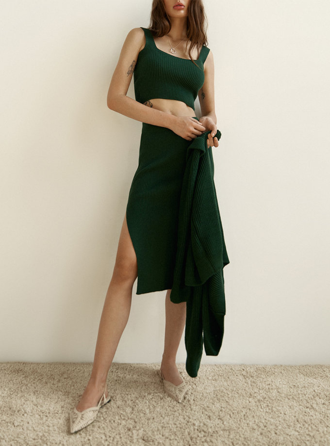 Хлопковый топ Demi emerald SYI_CS_183404-kapsula, фото 1 - в интернет магазине KAPSULA