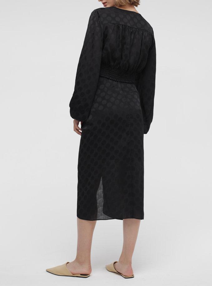 Юбка миди с разрезом MISS_SK-011-black, фото 1 - в интернет магазине KAPSULA