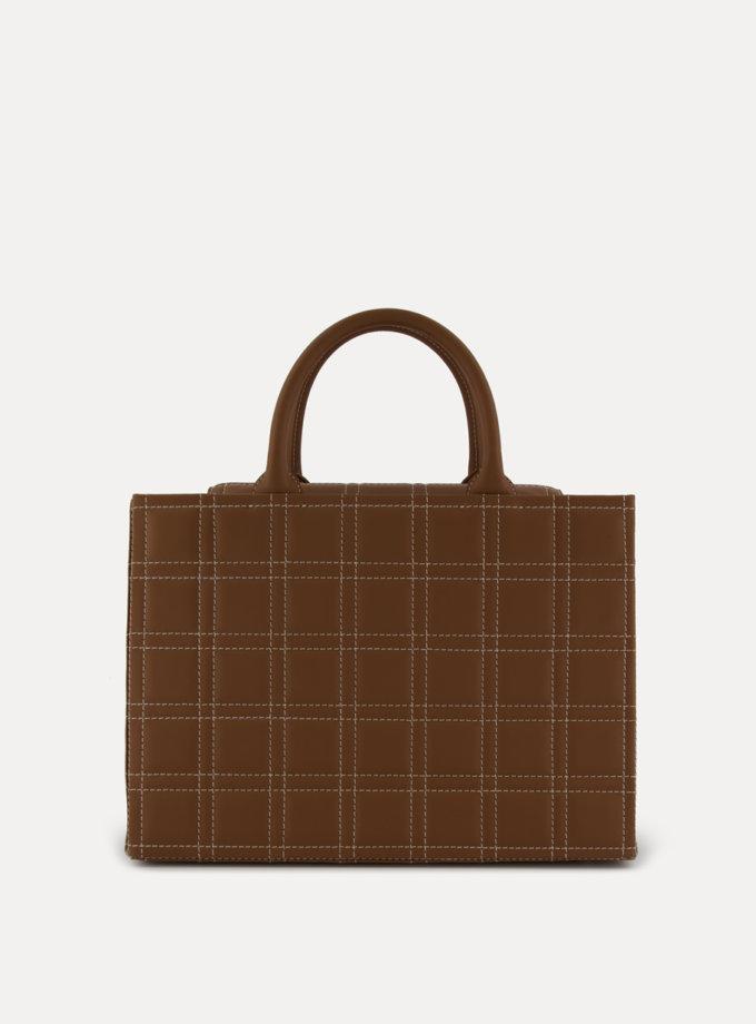Шкіряна сумка 5x7 Bag in chocolate LPR_5-7-B, фото 1 - в интернет магазине KAPSULA