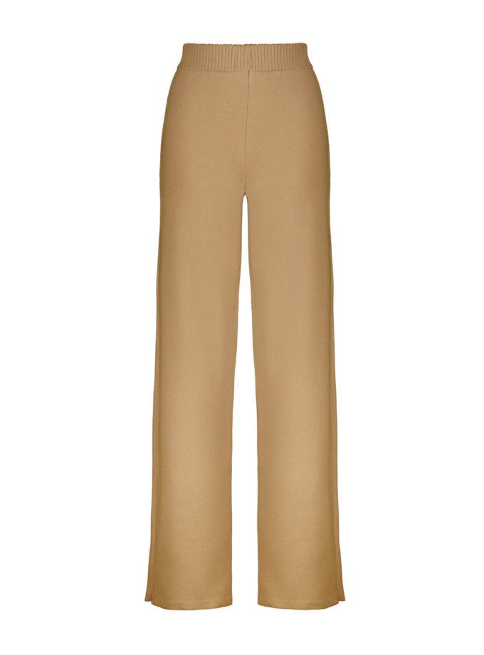 Хлопковые брюки camel SYI_CS_18390-kapsula, фото 1 - в интернет магазине KAPSULA
