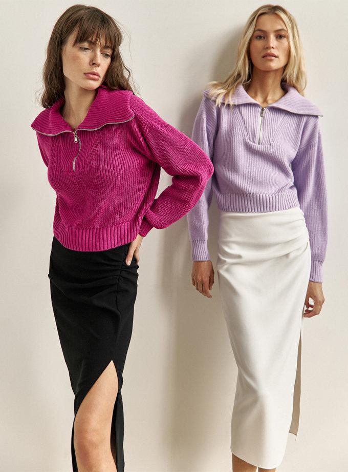 Джемпер Naomi з бавовни violet CHMSP_CS_18444, фото 1 - в интернет магазине KAPSULA