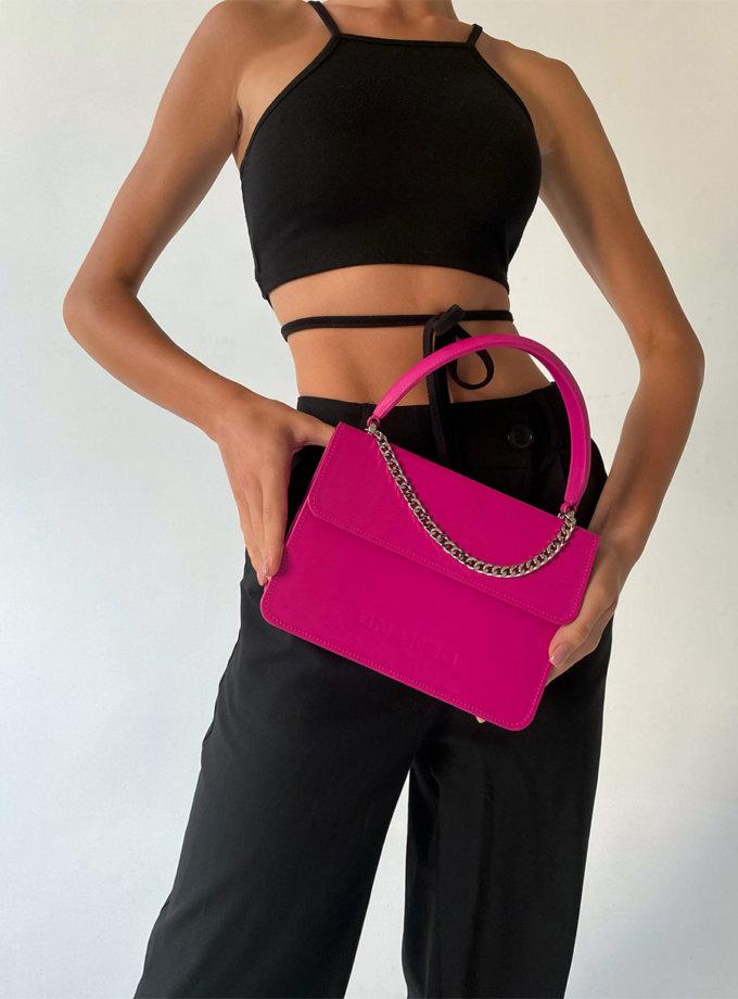 Шкіряна сумка Boy Bag in Magenta SNKD_P0075S, фото 1 - в интернет магазине KAPSULA