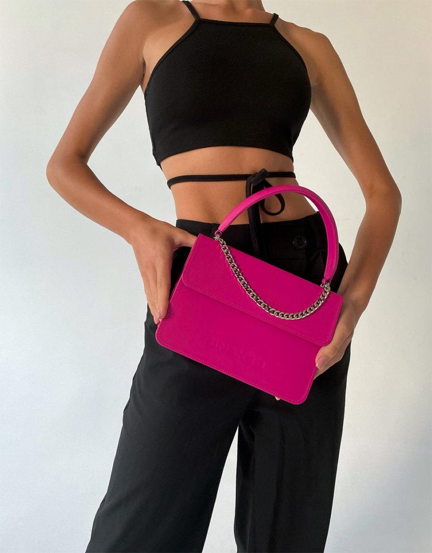 Кожаная сумка Boy Bag in Magenta SNKD_P0075S, фото 1 - в интернет магазине KAPSULA