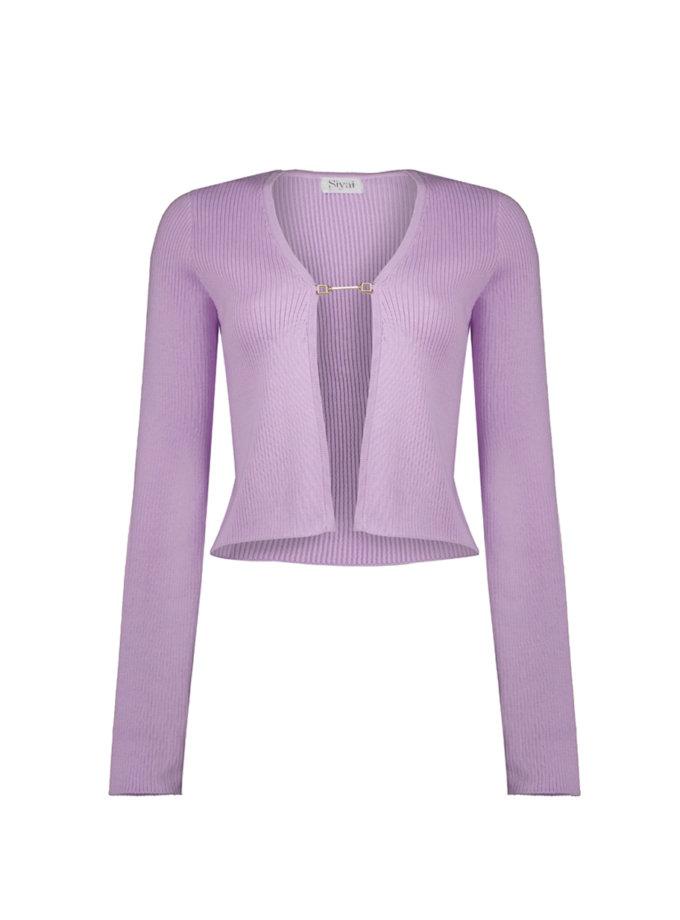 Кардиган Gia з бавовни violet CHMSP_CS_18372, фото 1 - в интернет магазине KAPSULA