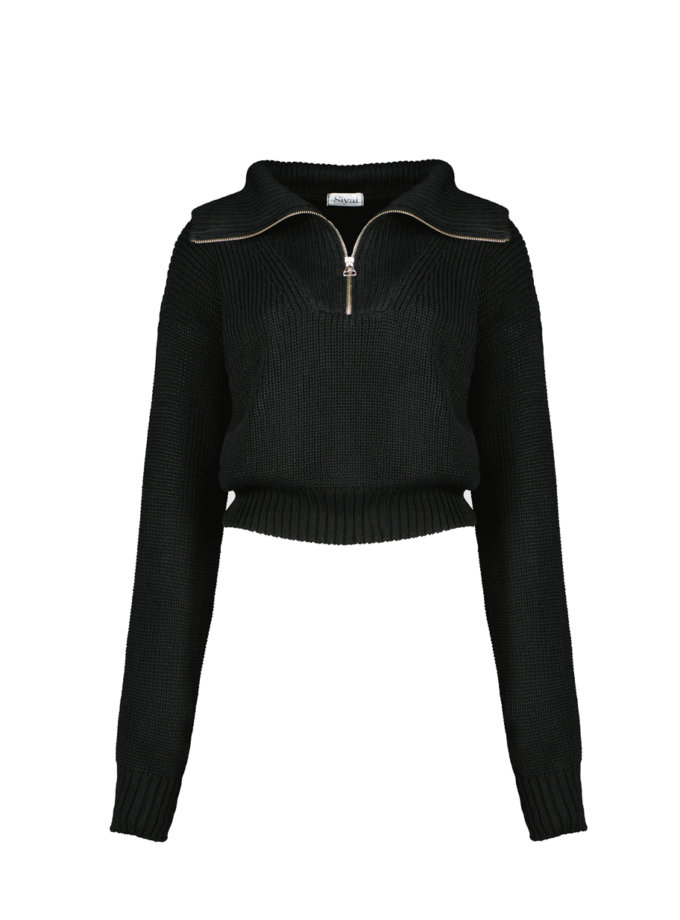 Джемпер Naomi з бавовни black CHMSP_CS_18442, фото 1 - в интернет магазине KAPSULA