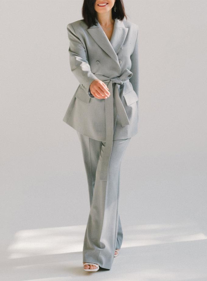 Двубортный костюм с прямыми брюками MMT_097_014а_grey, фото 1 - в интернет магазине KAPSULA