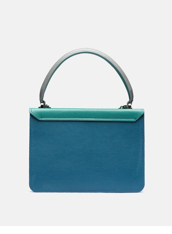 Шкіряна сумка Boy Bag in Multicolor Blue and Green SNKD_P0080S, фото 1 - в интернет магазине KAPSULA
