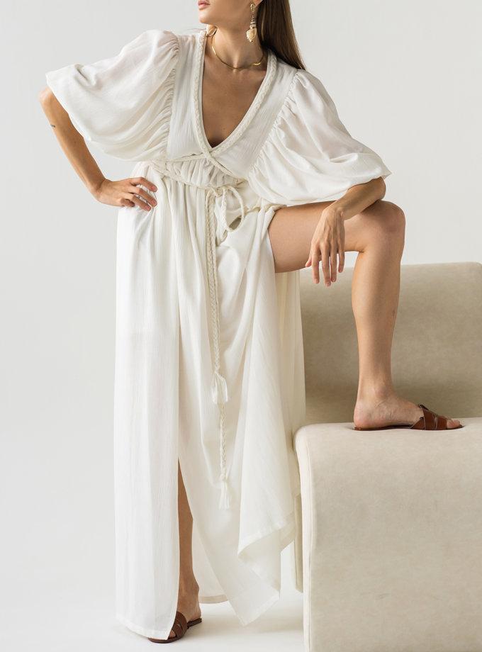 Платье с завязками KLSV_AK_FW_2021_3, фото 1 - в интернет магазине KAPSULA