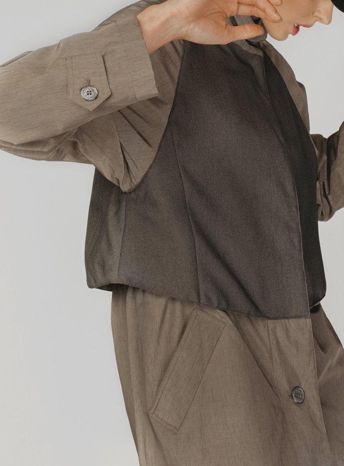 Асимметричный тренч NNB_BROWN.TRENCH, фото 1 - в интернет магазине KAPSULA