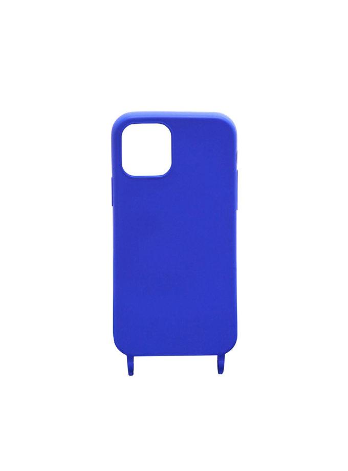 Чехол на ремешке Blue Solid для iPhone NKR_NCRB_12_BS, фото 1 - в интернет магазине KAPSULA