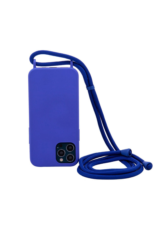 Чехол на шнуре Blue Solid для iPhone NKR_NCRR_12_BS, фото 1 - в интернет магазине KAPSULA