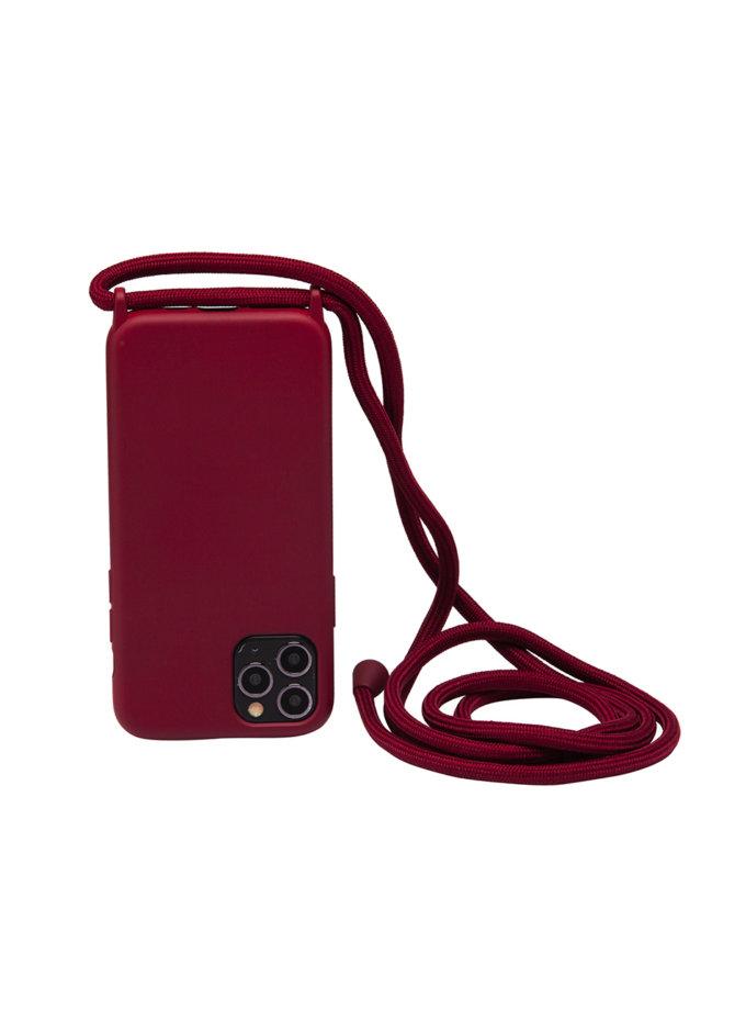 Чехол на шнуре Bordeaux для iPhone NKR_NCRR_12_BO, фото 1 - в интернет магазине KAPSULA