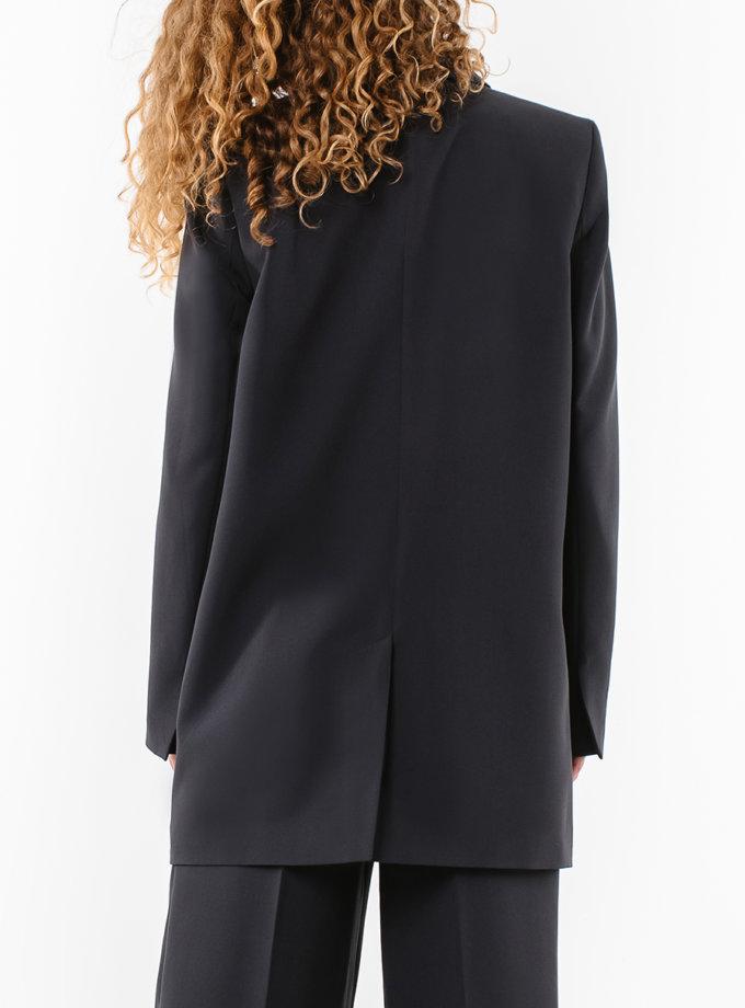 Пиджак свободного кроя MGN_1812BK, фото 1 - в интернет магазине KAPSULA