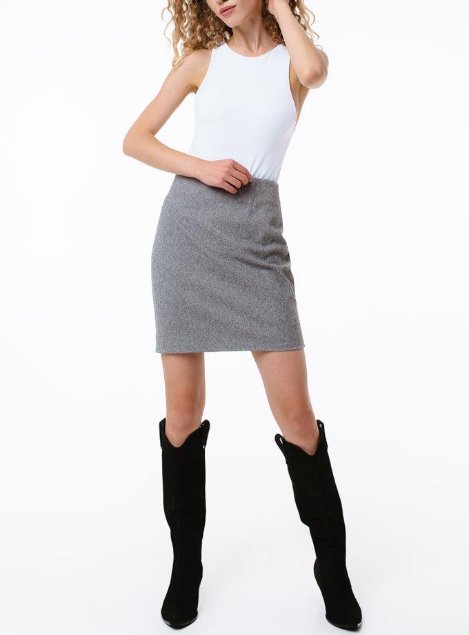 Спідниця міні з вовни MGN_1503BК, фото 1 - в интернет магазине KAPSULA