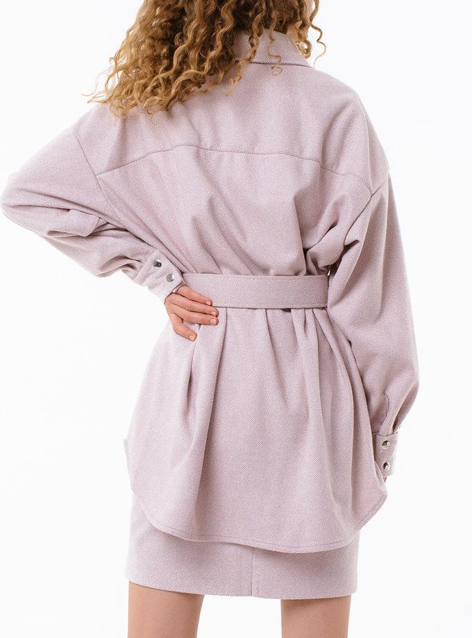 Рубашка с поясом MGN_2106PK, фото 1 - в интернет магазине KAPSULA