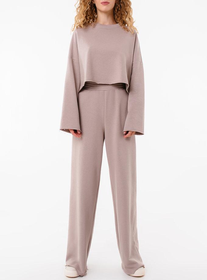 Хлопковые штаны свободного кроя MGN_1950BG, фото 1 - в интернет магазине KAPSULA