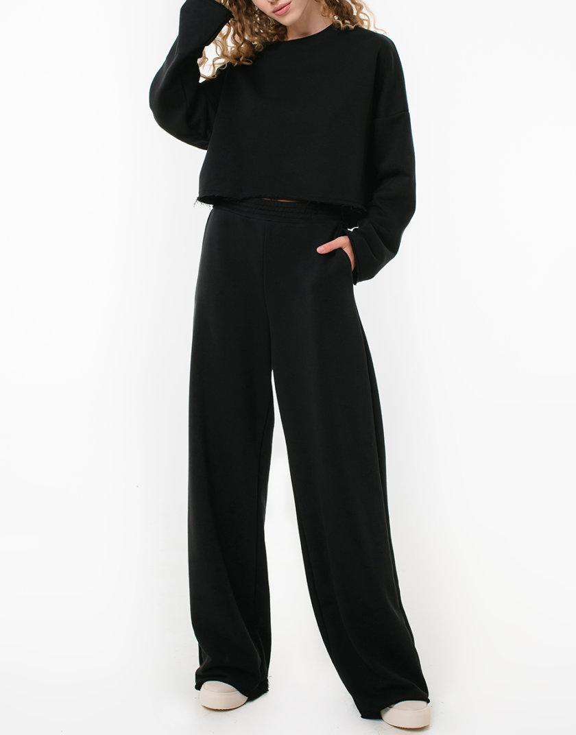 Хлопковые штаны свободного кроя MGN_1950BK, фото 1 - в интернет магазине KAPSULA