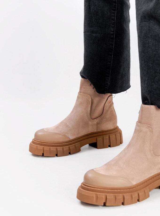 Замшеві черевики CRS_21-01629, фото 1 - в интернет магазине KAPSULA