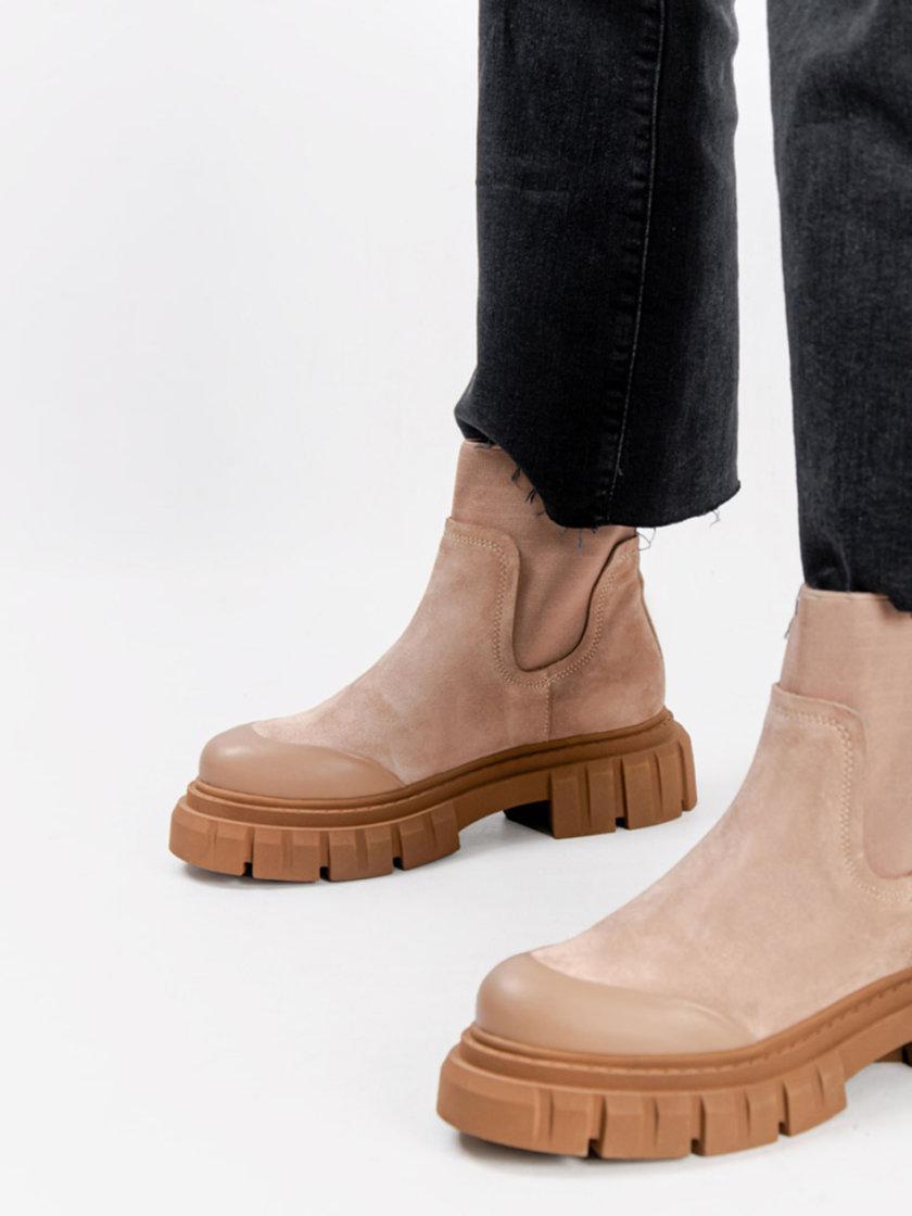 Замшевые ботинки CRS_21-01629, фото 1 - в интернет магазине KAPSULA