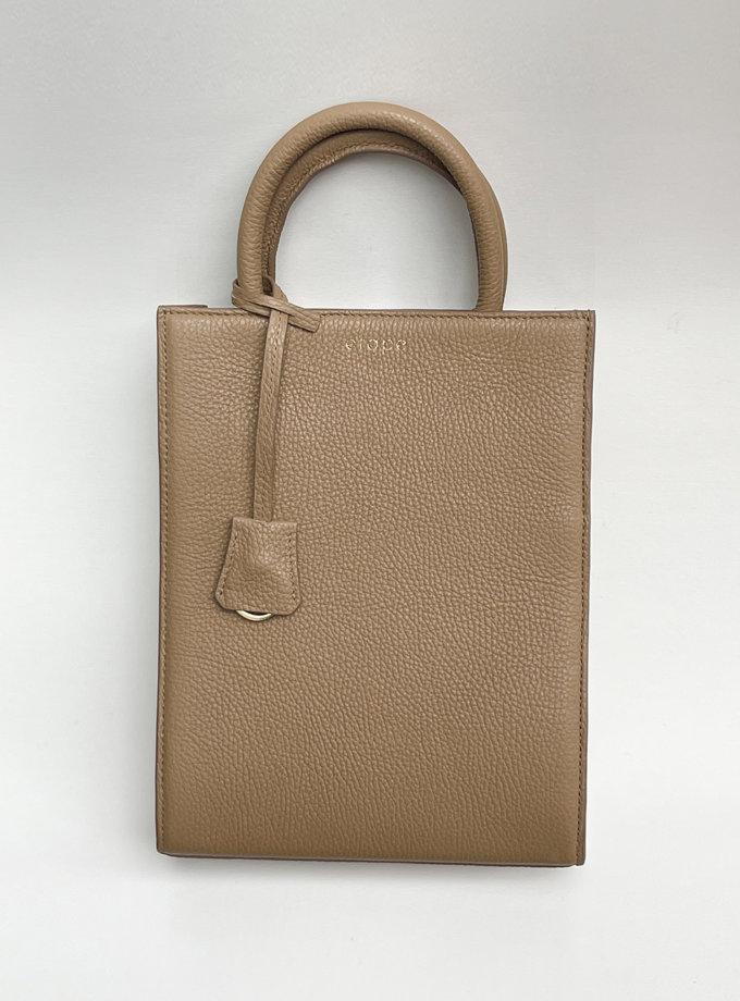 Кожаная сумка TOY MACBAG ETP_TOY-MAGBAG-CINNAMON, фото 1 - в интернет магазине KAPSULA