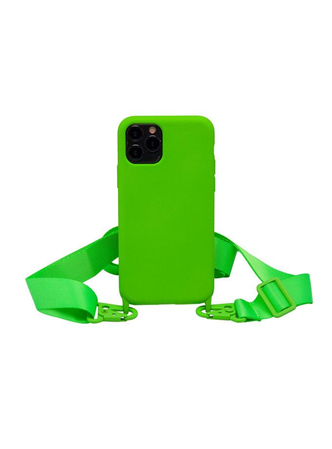 Чехол на ремешке Electric Green для iPhone NKR_NCRB_12_EG, фото 1 - в интернет магазине KAPSULA