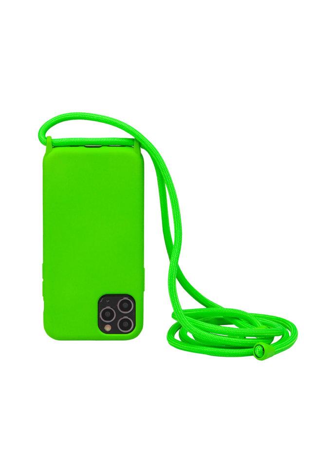 Чехол на шнуре Electric Green для iPhone NKR_NCRR_12_EG, фото 1 - в интернет магазине KAPSULA