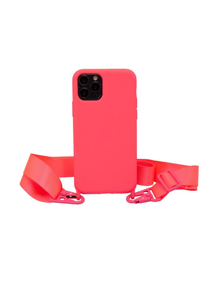 Чехол на ремешке Electric Pink для iPhone NKR_NCRB_12_EP, фото 1 - в интернет магазине KAPSULA
