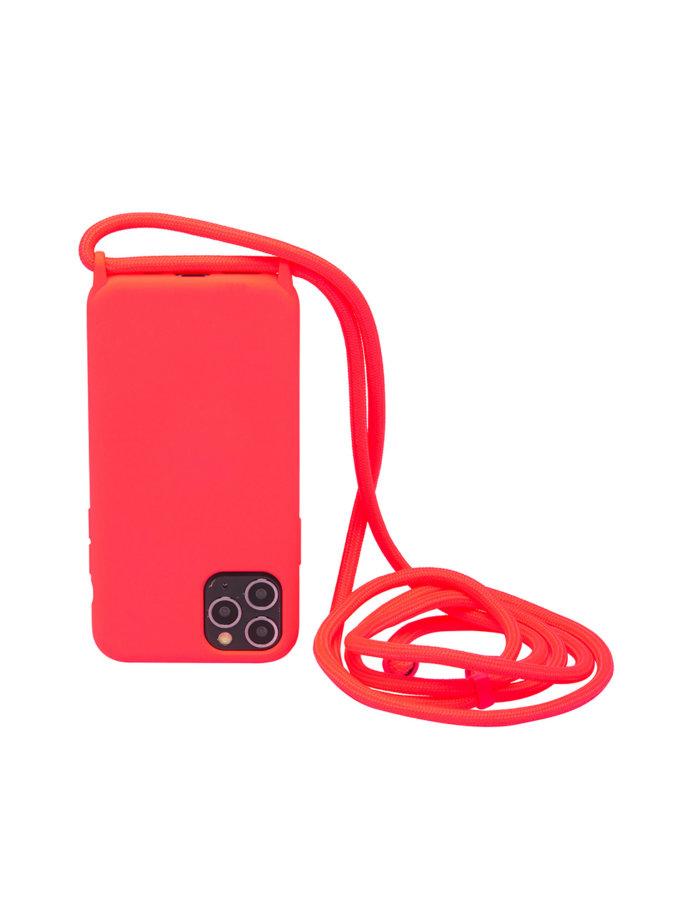 Чехол на шнуре Electric Pink для iPhone NKR_NCRR_12_EP, фото 1 - в интернет магазине KAPSULA