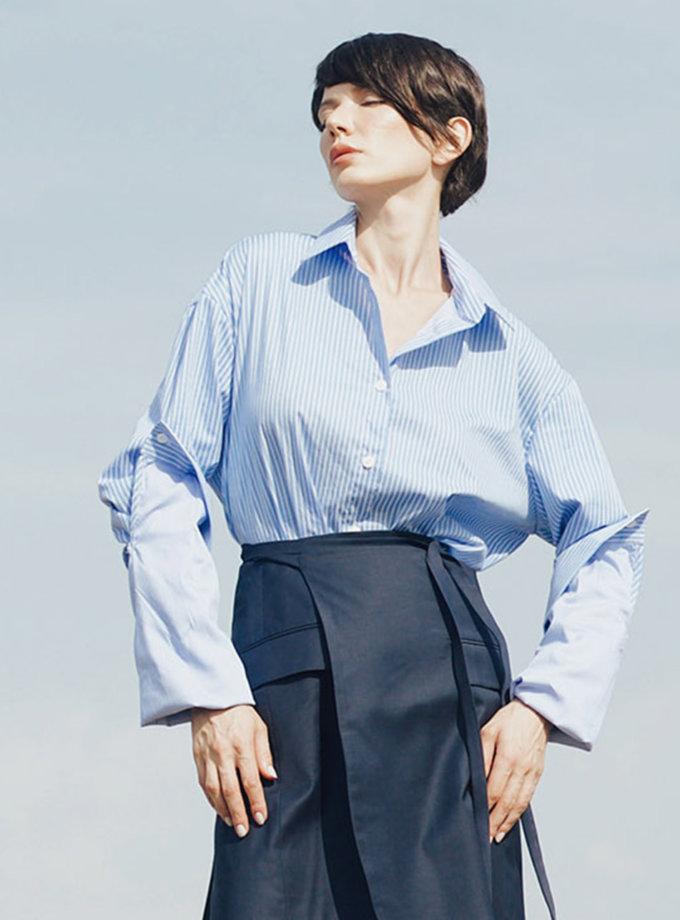 Хлопковая рубашка oversize GRG_G-210320, фото 1 - в интернет магазине KAPSULA