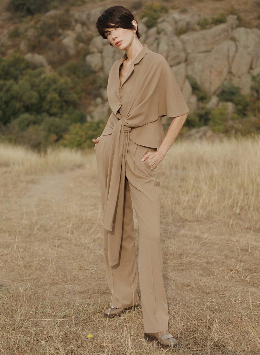 Прямые брюки со стрелками GRG_G-210335, фото 1 - в интернет магазине KAPSULA