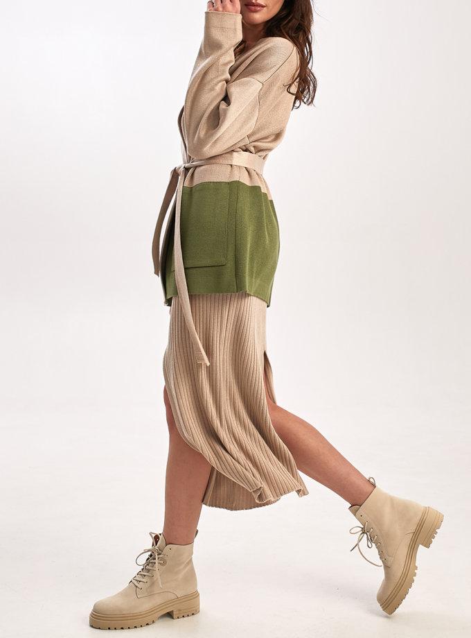 Юбка с разрезами NBL_2109-SK-BEG, фото 1 - в интернет магазине KAPSULA