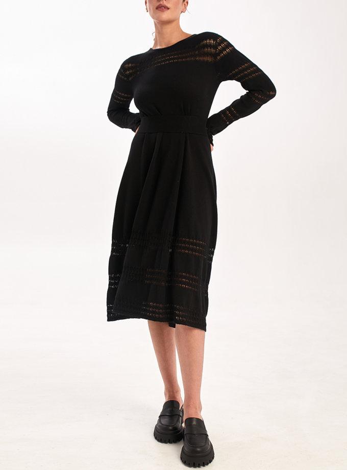 Ажурное платье с поясом NBL_2109-DR-BL, фото 1 - в интернет магазине KAPSULA