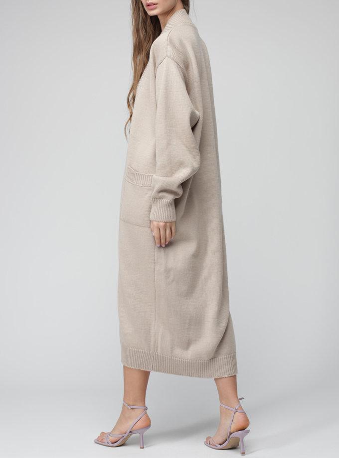 Кардиган з вовни на запах MISS_JA-017-beige-coat, фото 1 - в интернет магазине KAPSULA