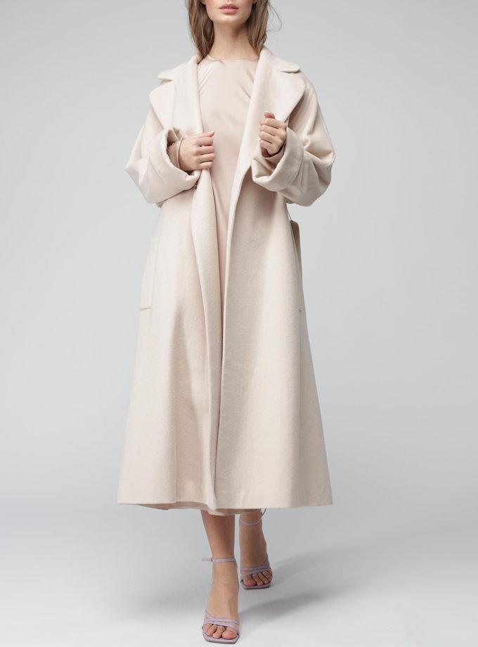 Пальто на запах з вовни MISS_JA-011-white-coat, фото 1 - в интернет магазине KAPSULA