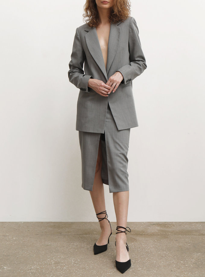 Юбка из шерсти с разрезом IRRO_IR_FW21_SG_005, фото 1 - в интернет магазине KAPSULA
