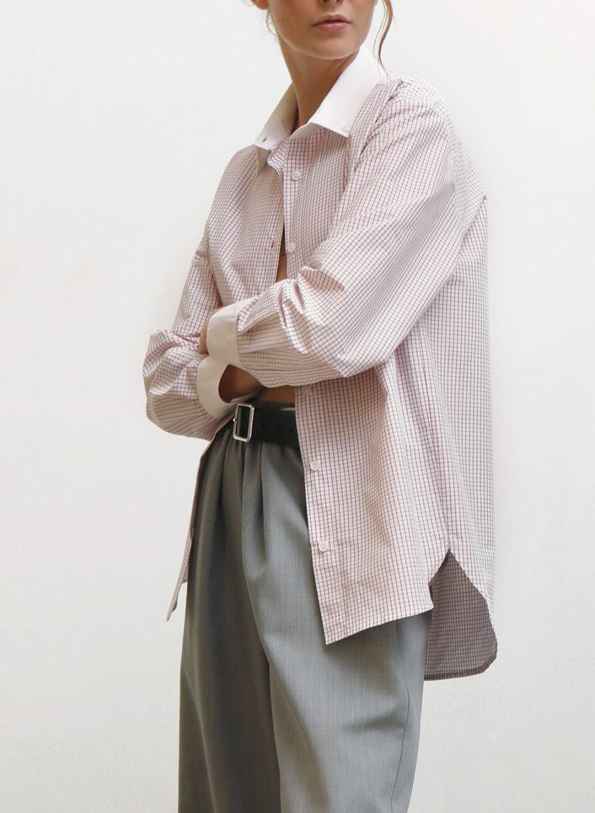 Рубашка из хлопка в клетку IRRO_IR_FW21_SP_009, фото 1 - в интернет магазине KAPSULA
