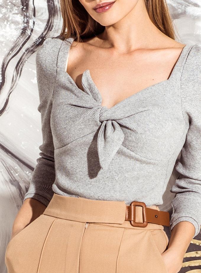 Блуза в рубчик KS_FW25_09, фото 1 - в интернет магазине KAPSULA