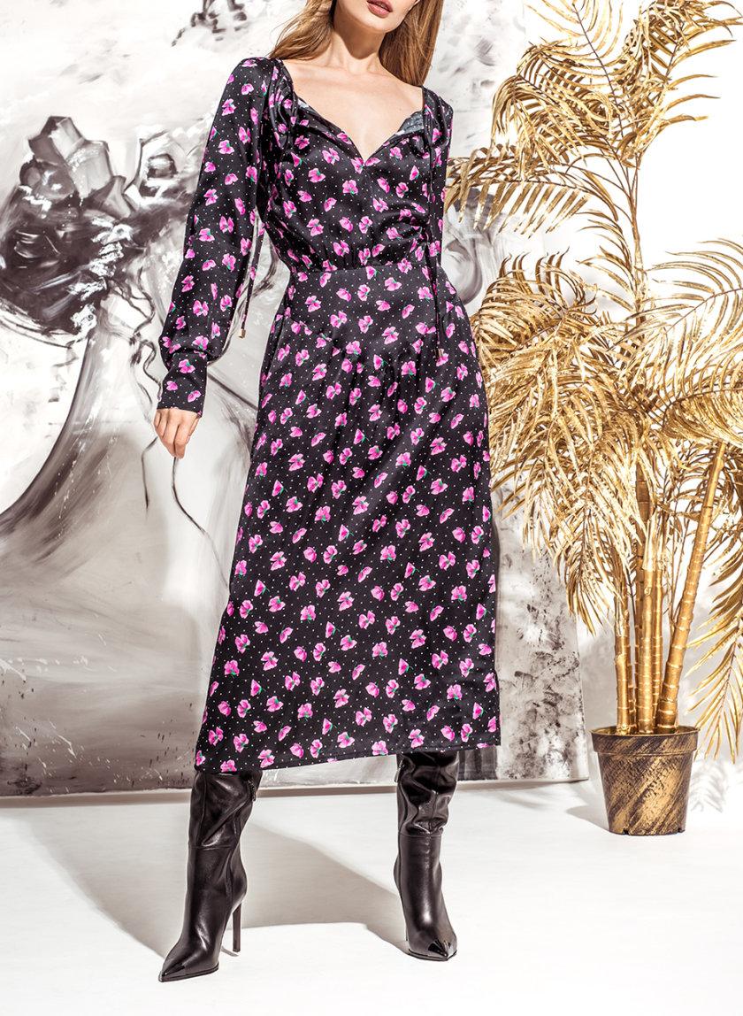 Шелковое платье миди KS_FW25_13, фото 1 - в интернет магазине KAPSULA