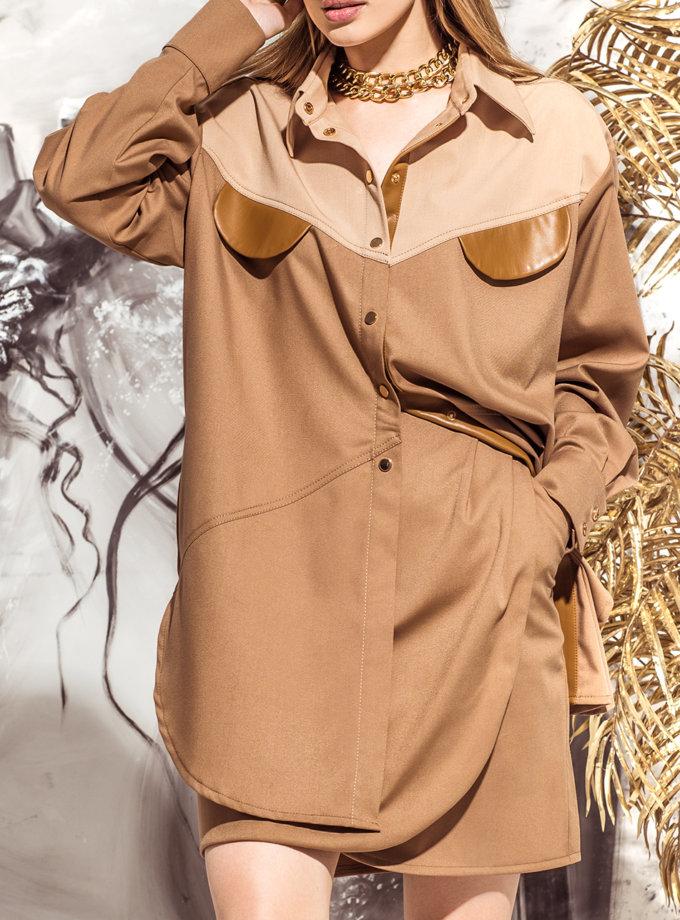 Рубашка oversize KS_FW25_21, фото 1 - в интернет магазине KAPSULA