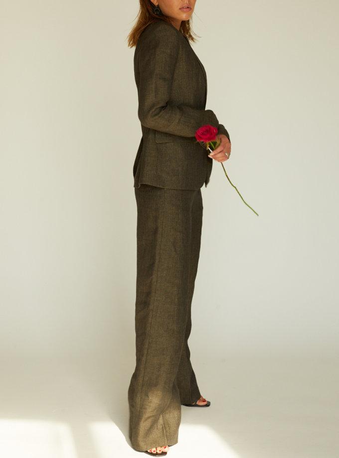 Брючний костюм Темний льон STR_L20F0060418, фото 1 - в интернет магазине KAPSULA