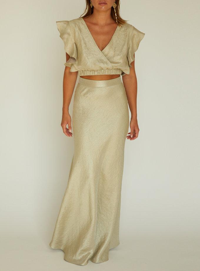 Льняная юбка с топом STR_L20F032-F0190477, фото 1 - в интернет магазине KAPSULA