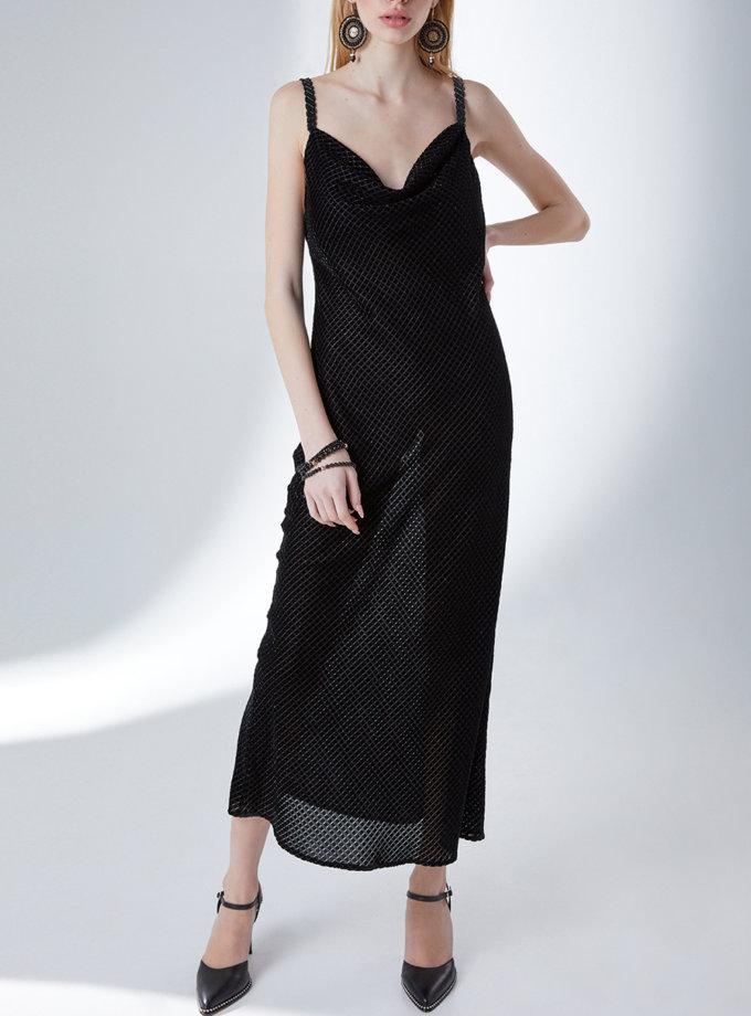 Платье-комбинация Бархатный ромб STR_L20F0660567, фото 1 - в интернет магазине KAPSULA