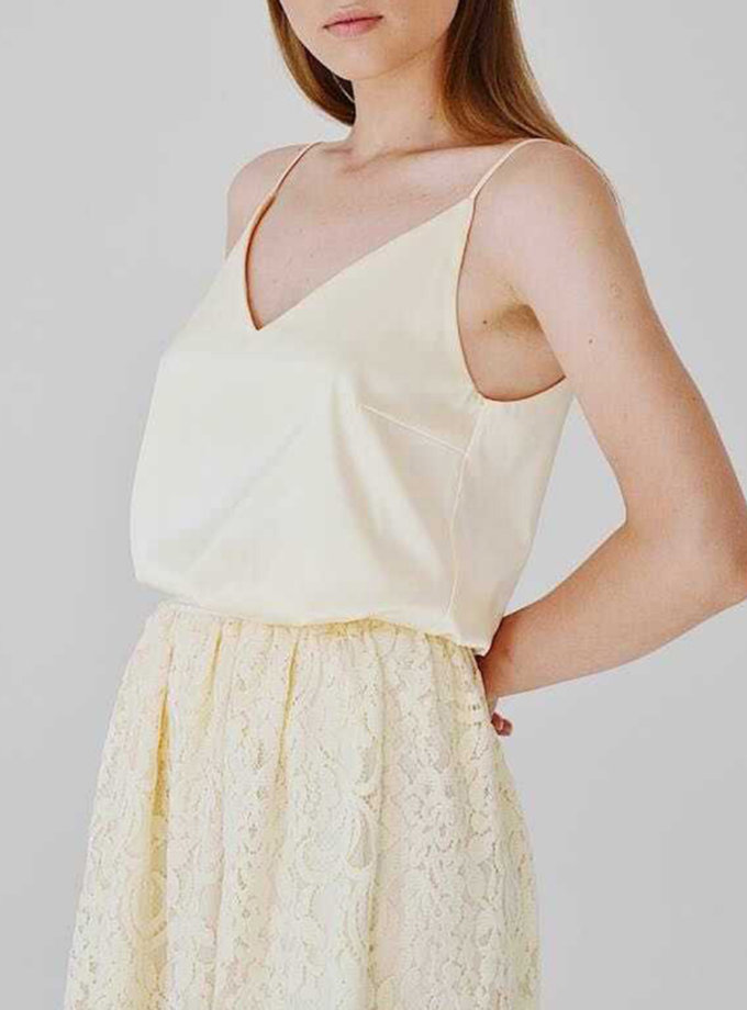 Блуза-топ  на бретелях STR_L21F0200658, фото 1 - в интернет магазине KAPSULA