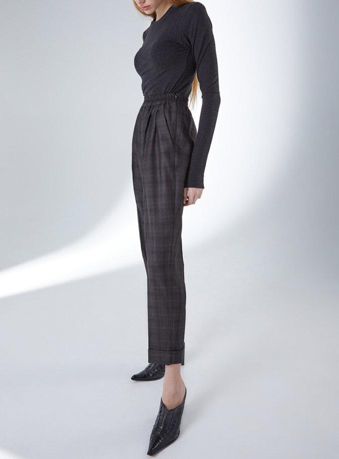 Шерстяные брюки на резинке STR_L21F0590700, фото 1 - в интернет магазине KAPSULA